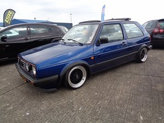 VW Golf 2 (911gt2rs) Tags: treffen meeting show tuning tief low stance mk2 rabbit oldschool youngtimer gti blau blue