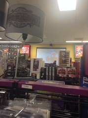 the projector screen in the back of the store (JJ_2002) Tags: hastings entertainment superstore hastingsentertainment hastingsentertainmentsuperstore kirksville mo missouri