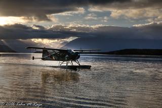 Plane Landing at Sunset II