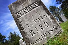 All the Souls (drei88) Tags: gravestone cemetery life death eternal stark bleached colorless bleak westfarmington hillsidecemetery rural trumbullcounty emeline forlorn 1854