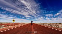 Middle of Nowhere (jrazarcon) Tags: mountwilloughby southaustralia australia au nikond810 afs nikkor 20mm f18g ed john azarcon jrazarcon sunset photography parks landscape d810 road roadtrip clouds outdoor outback stuart highway adventure man kangaroo signpost wide angle