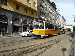 Sofia 2035 on route 10 at ul. Alabin, Sofia - 30th May 2016 (Alex-397) Tags: tram sofia tatra bulgaria