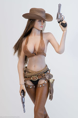 Super Duck Sexy Cowgirl Clothing Set (edwicks_toybox) Tags: 16scale brunette cowboyhat cowgirl femaleactionfigure girlswithguns kimitoys phicen seamlessbody sexycowgirl superduck