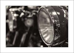 Pristine condition (G. Postlethwaite esq.) Tags: nationalmotorcyclemuseum topazbweffects beyondbokeh bokeh headlamp motorcyle toned dof depthoffield selectivefocus canon60mmmacro primelens