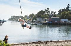 Best swing ever (grilljam) Tags: summer september2016 laborday seamus 4yrs ewan 7yrs swing mackerelcove baileyisland lobsterboats