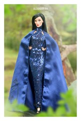Navy Gleaming Gown by Ahmad Syahroni (Jonlexx) Tags: fashion royalty doll high fierce navy sequin gown elegant elyse jolie jadore jonlex indonesia beauty perfect