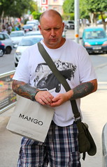 thinking about getting another tattoo (areavie@gmail.com) Tags: canon 5d iii menorca minorca spain street photography photos mahon mao male subject portrait candid allen reavie 2016 men alan