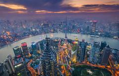 环球100层 (Alex WJ) Tags: 上海 陆家嘴 中国 夜景 广角 建筑 城市 灯光 傍晚 云 nightscape city shanghai china lujiazui 环球金融中心 swfc cloud lights skyline
