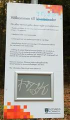 Information board about Lvnsbadet at the lake Yngern (Flicker Classic Person) Tags: yngern lvnsbadet beach strand naturist nudist fkk sdertlje nykvarn sweden sverige safe 2016 parking board text swedish svenska