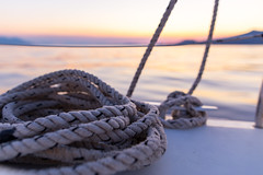Golden hour (dakonst (busy the summer)) Tags: img3289 konstantinosdaskoulias sailingaffairs greekseas canon6d sigma24mmart landscape sailing ropes seascape sunset outdoor sea goldenhour