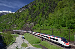 ICN 878 @ Lavorgo (Wesley van Drongelen) Tags: sbb cff ffs schweizerische bundesbahnen chemins de fer fdraux federaux suisses ferrovie federali svizzere swiss federal railways etr 610 pendolino cisalpino due neigezug ic icn intercity 878 icn878 lavorgo trein train zug treno