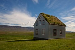 Dream house in the icelandic countryside (Matteo Andreozzi) Tags:  iceland islande islandia islanda     nature light adventure landscape dream unknown water sun sky earth green blue brown breathe panorama quiet stillness beauty life world paradise black red national geographic colors wilderness mist waterfall river volcano ice snow fire grass wind mistery lava moss hole house counrtyside home cottage cozy