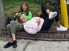 Sarah and Tess (jeffcbowen) Tags: sarah tess street stranger friendship toronto portrait