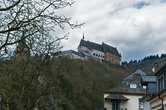 Vianden (Zinaida Belaniuk) Tags: vianden luxemburg town castle 2016 spring april clouds