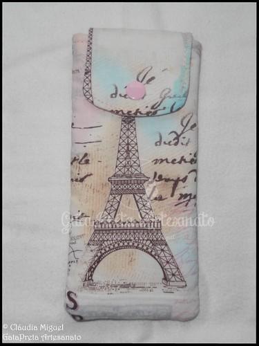 """Bolsa de óculos """"Paris je t'aime"""""""