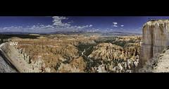 Bryce Canyon Panoramic Viewing Rock (Wizum) Tags: utah usa canyon brycecanyon nationalpark nature panoramic rim 2014 rockformations erosion viewpoint natural