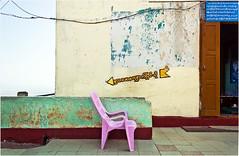 the pink chair (electrigger) Tags: pink pagoda chair burma myanmar burmese chaise pagode taung kalat nonplace birmanie tuyin