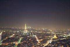Beacon (The Lovely World) Tags: city light tower up skyline night shiny cityscape tour horizon eiffel lit beacon nuit shining rues nocturne ville lumires