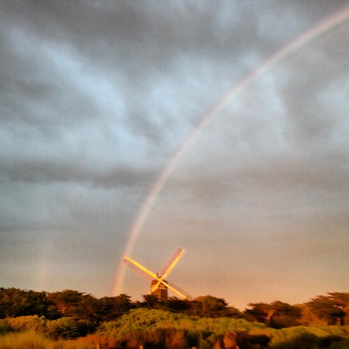 Rainbow over murphy windmill