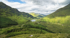 Loch Restil (Andrew Tan 2011) Tags: uk panorama lake green landscape climb scotland high cloudy unitedkingdom sunny fromabove hills valley viewpoint vantage inveraray scottishhighlands a83 lochrestil argyllforestpark zf2 distagont2821