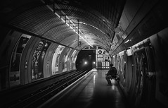 Now I'm safe... (Kenaz.24) Tags: light portrait england blackandwhite abstract london art underground exposure alone moody fear dramatic haunted spooky dreamscape dred fixedshadows nikond300s kenaz24