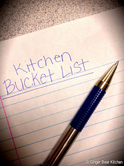 kitchen bucket list