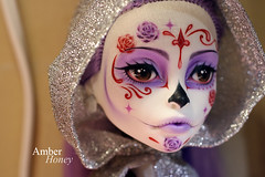 Sugar skull Spectra (Amber-Honey) Tags: monster dead skull amber high mod doll day ooak sugar honey spectra custom catrina mattel calavera repaint vondergeist