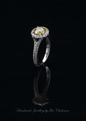 1.39ct Fancy Lemon Yellow center diamond and 0.90ct of white diamond micro Pave set in Platinum.V (Ilia1968) Tags: yellow engagement ring diamond micro fancy russian ltd ilia pave jewellers intence chokourov