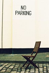 Roll 2 - No Parking, Except for Self. (Cris Ward) Tags: road street camera wood old city uk orange brown signs streets color colour slr london film sign yellow rollei analog writing 35mm vintage daylight lomo xpro lomography chair warm cross random britain furniture crossprocess text parking grain cream slide retro crossprocessing april analogue manual noise processed e6 yashica blown colorshift lsi c41 2013 yashicafxd colorreversal cr200 lomolab digibase rolleidigibasecr200