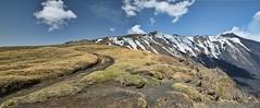 Panoramica dalla schiena dell'asino (Andrea Rapisarda) Tags: travel italy clouds volcano lava nikon italia nuvole path ngc panoramica neve sicily sentiero etna sicilia vulcano mtetna d800 fumo nicolosi ©allrightsreserved valledelbove parcodelletna schienadellasino nationalgeographicgroup nikon2470mmf28