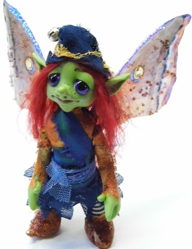 "Ooak Handmade Polymer Clay Fairy/Witch ""Asria"""