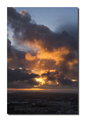 Fire in the sky (Simon Bone Photography) Tags: sky sun pool clouds cornwall hill fireinthesky alight redruth litup carnbrea cornishsunsets canoneos7d hitechnd09reversegrad wwwsimonbonephotographycouk canonef24105mmislf4