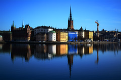 Ridderholmen (Digital-Daze) Tags: skyline reflections stockholm oldtown thechallengefactory