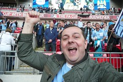 Yes! Get in there! (zawtowers) Tags: city portrait man get london me cup smiling self manchester happy football chelsea 21 stadium yes soccer sunday go going semi final there april match another win 14th budweiser footy fa mcfc footie wembley mental semifinal 2013 citeh