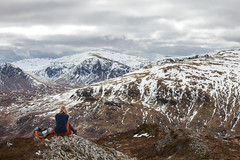 Pause to Reflect (svensl) Tags: new uk winter portrait mountain snow cold ice nature self canon walking landscape photography scotland europe view hiking tagged reflect pause conceptual schottland meall glenlyon buidhe
