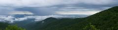 Buck Spring Gap Overlook (wxkeith) Tags: trees sky panorama usa mountains rain clouds countryside northcarolina vista northamerica blueridgeparkway rainshaft