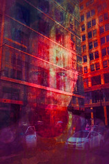 """The Right to Remain Silent (""""Cisco Kid"""") Tags: red portrait abstract man color texture face car photoshop"""