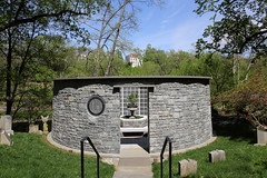 Oak Hill Cemetery Columbarium (Mr. T in DC) Tags: cemeteries cemetery grave stone architecture buildings washingtondc dc georgetown graves columbarium gravemarkers niches oakhillcemetery burialplaces willowcolumbarium