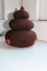 Pile of Poop (nottheally) Tags: pink brown cute art toy eyes funny hand ooak crochet humor safety plush yarn made cotton gift pile poop kawaii necessary plushie gag etsy blush amigurumi plushy blushing nosense polyfil sfetsy