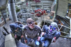 I think I smell Gas !!!(explored) (Kriegaffe 9) Tags: abandoned nikon mask decay exploring clown goggles fisheye explore gasmask planthouse hdr ue kerpow urbex samyang ngte pyestock whodroppedthatone