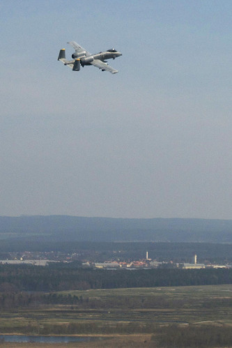USAFE A-10 Thunderbolt makes final flight over Grafenwoehr Training Area