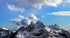 Sky Pilot (Christopher J. Morley) Tags: blue sky mountain snow canada snowshoe spring nikon bc peak hike mount explore summit pilot mulligan wanderung d600 2013 thanksdanielle mysnowshoesnappednearthetop isinktooeasilyprobablytooheavy hikingpartnerwasverykindtoletmeusehers