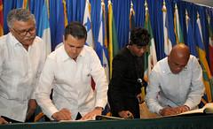 Ceremonia de clausura y adopción de la Declaración de la V Cumbre de la Asociación de Estados del Caribe.
