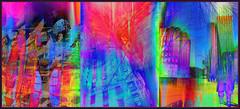 City and Colour (Tim Noonan) Tags: digital photoshop triptych colour texture buildings windows trees fence sidewalk people spring hot cold birds urban energy mosca awardtree vividimagination maxfudgeawardandexcellencegroup stickybeak hypothetical kreativepeople netartii shockofthenew vividnationexcellencegroup newreality sharingart admintalkinternational artandphotography artbook stickymaximus ultramodern