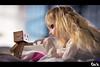 Danbo meet Eimi (Art by Vins) Tags: cute girl toy toys actionfigure photography doll bokeh blond kawaii dd dollfie volks yotsuba danbo dollfiedream revoltech danboard cartox
