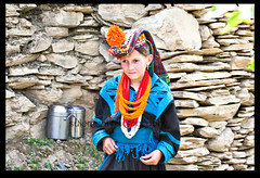 innocence & elegance even in the rockes  ! (TARIQ HAMEED SULEMANI) Tags: travel pakistan summer tourism colors trekking canon photography culture innocence sensational tariq chitral supershot the4elements theunforgettablepictures concordians sulemani theperfectphotographer tariqhameedsulemani bamburait