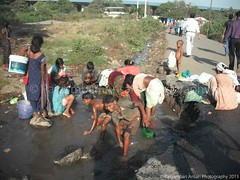 Water is our life. (Paigambari) Tags: india water garbage women pollution mumbai panvel