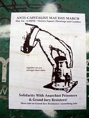 Anti Capitalist May Day March (knightbefore_99) Tags: art vancouver poster square march bc political victory strong anarchist resist prisoners anticapitalist