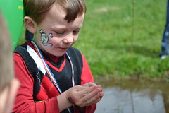 An honest reaction to holding a jumping tiny, slimy frog. (BCWF Wetlands Education Program) Tags: bc britishcolumbia environmental frog wetlands restoration langley wetland arbourday citizenscience bcwf townshipoflangley langleyenvironmentalpartnerssociety pacificchorusfrogs