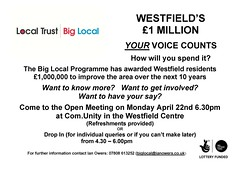 Westfield Estate flyer April 2013 (Big Local) Tags: poster flyer posters leaflet publicity westfield flyers leaflets biglocal localtrust